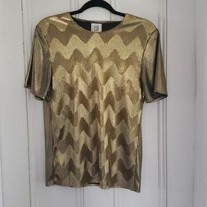 Cleo Gold Metallic Vintage blouse